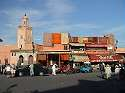 Photo - Marrakech - Place Jemaa El Fna - Mosquée Quessabine