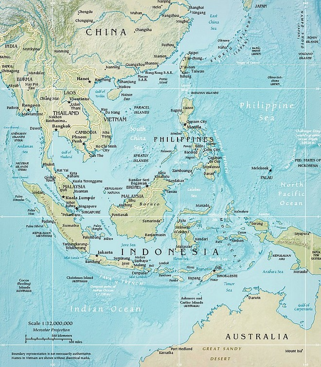 Carte de la région Asie du Sud